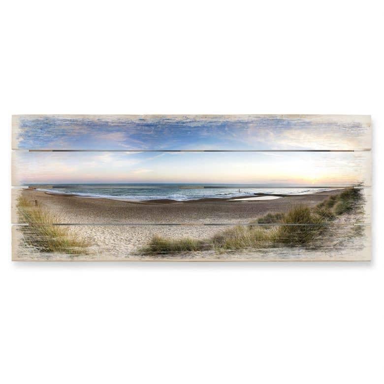 Beach Panorama - Panorama Wood Print