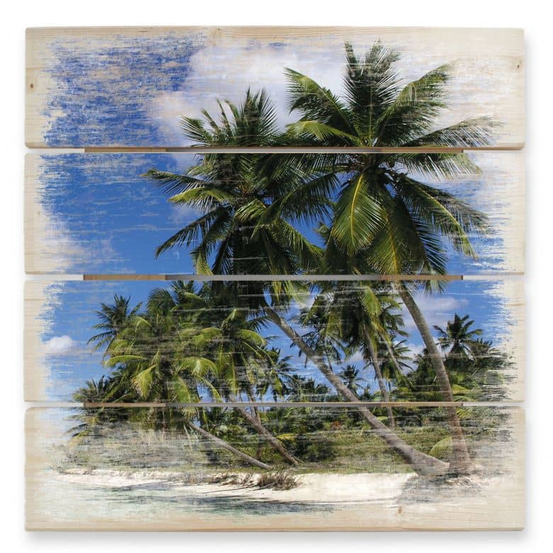 Holzbild Carribean Flair