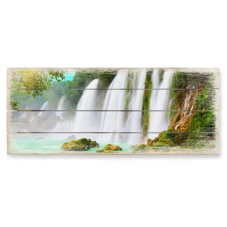 Holzbild Blaue Lagune - Panorama