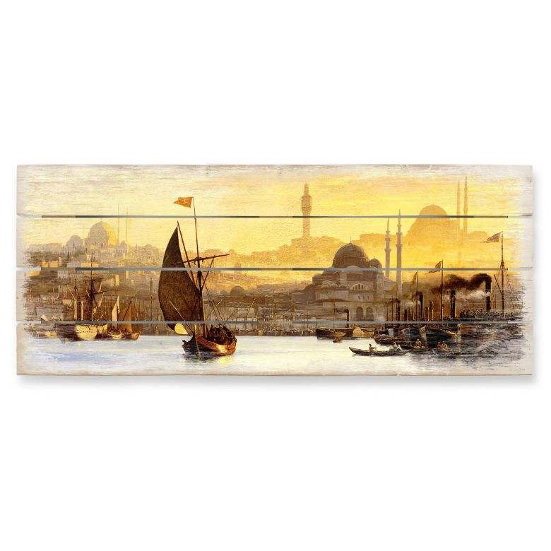 Holzbild Neumann - Konstantinopel - Panorama