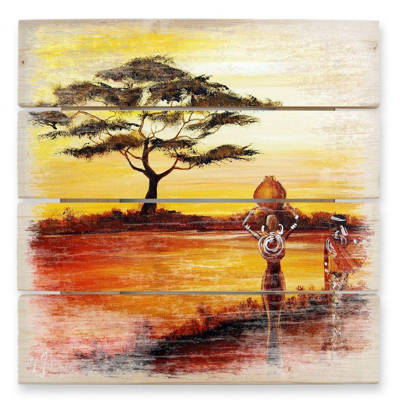Holzbild Fedrau - Afrika