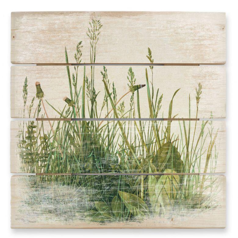 Holzbild Dürer - Das Große Rasenstück