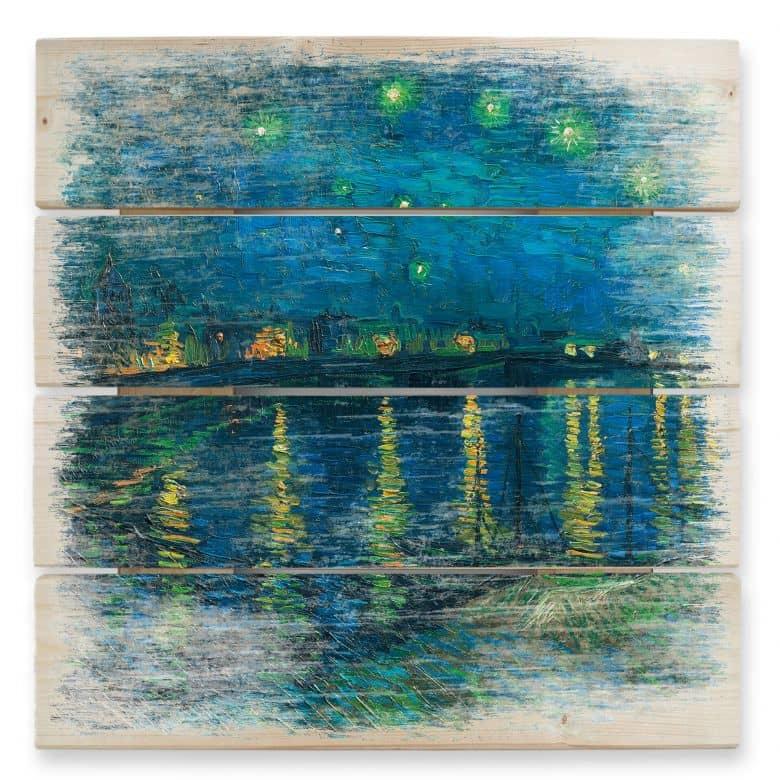 Holzbild van Gogh - Sternennacht 1888