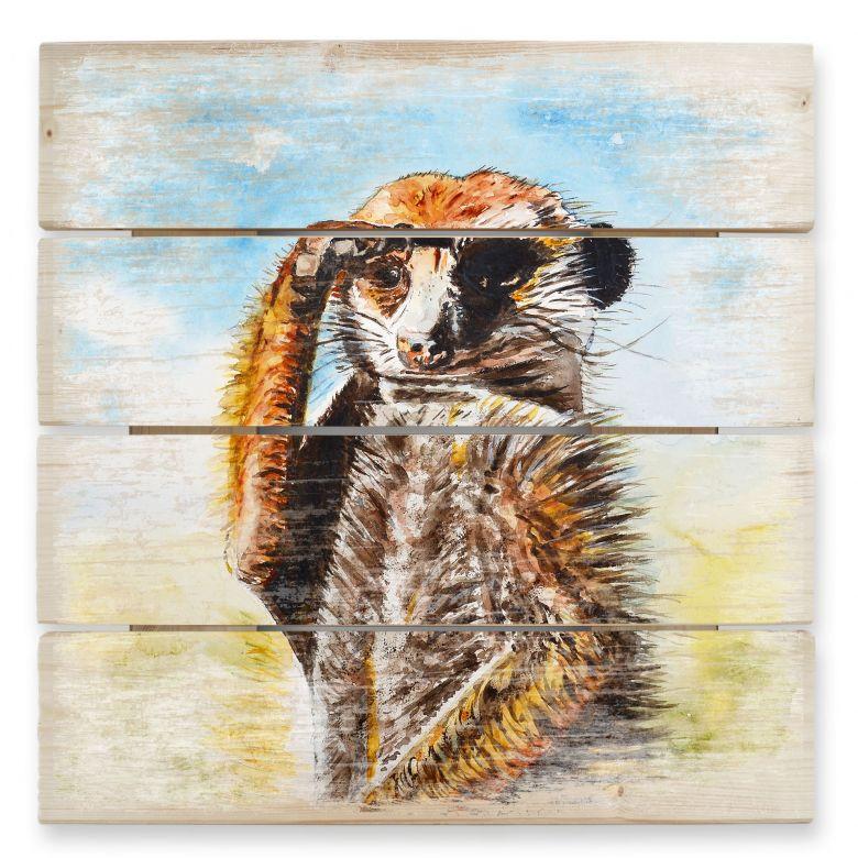 Houten Wanddecoratie Toetzke - Meerkat