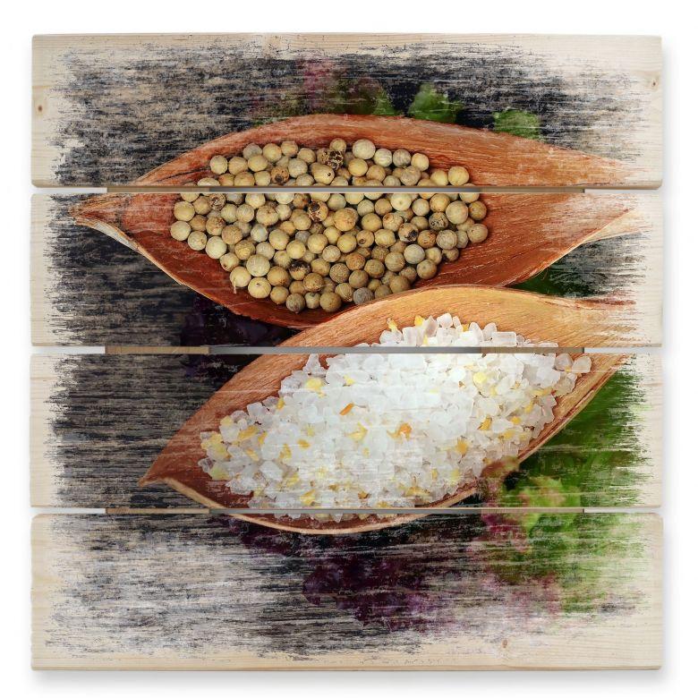 Holzbild Salt and Pepper