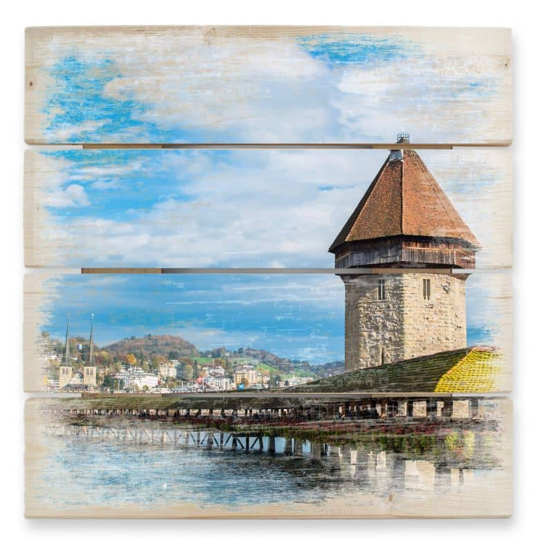 Holzbild Holzbrücke in Luzern