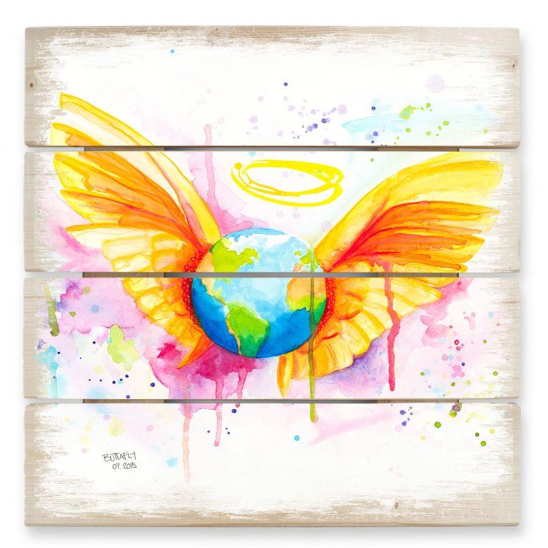 Holzbild Buttafly - Angel