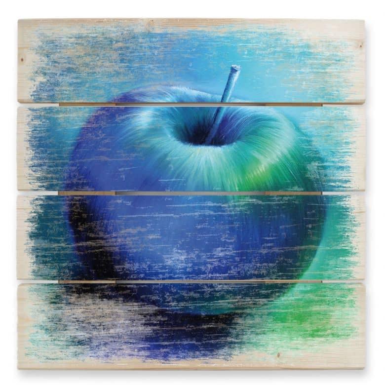 Holzbild Schmucker - Blauer Apfel