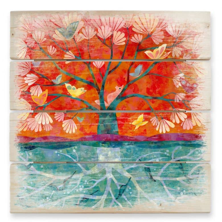Holzbild Blanz - Baum des Lebens