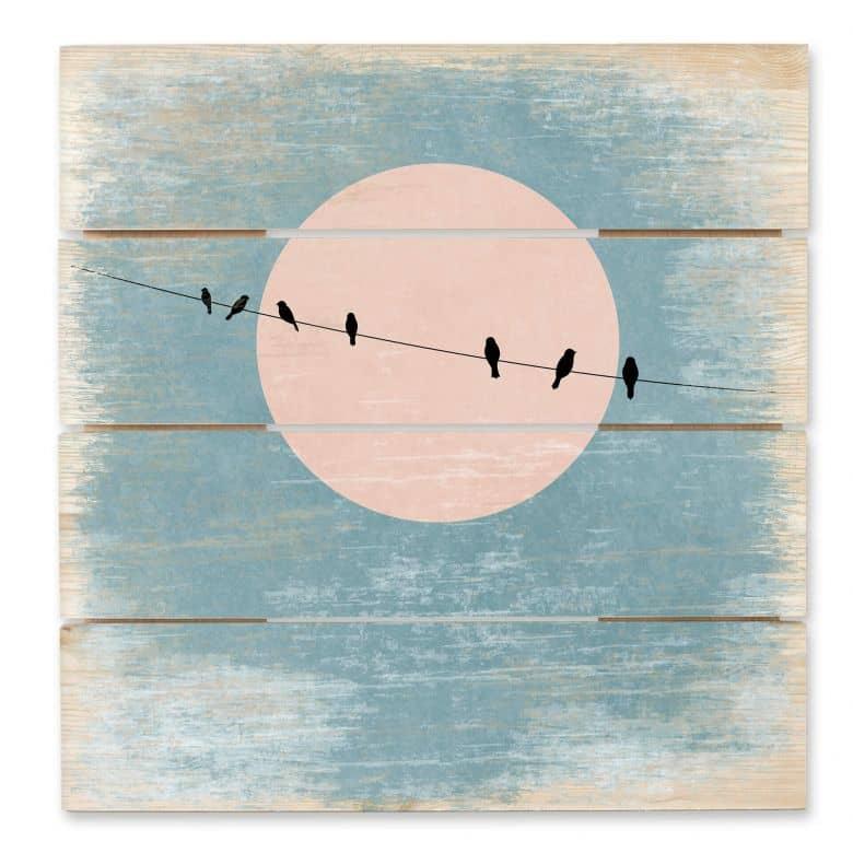 Wood Art Print - Kubistika - Silence