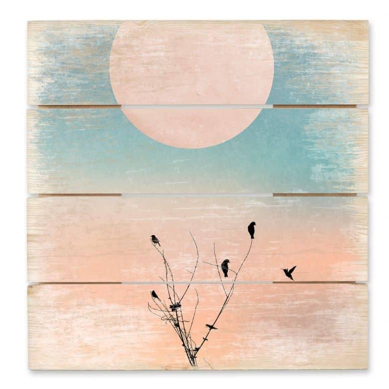 Wood Art Print - Kubistika - Warm Morning
