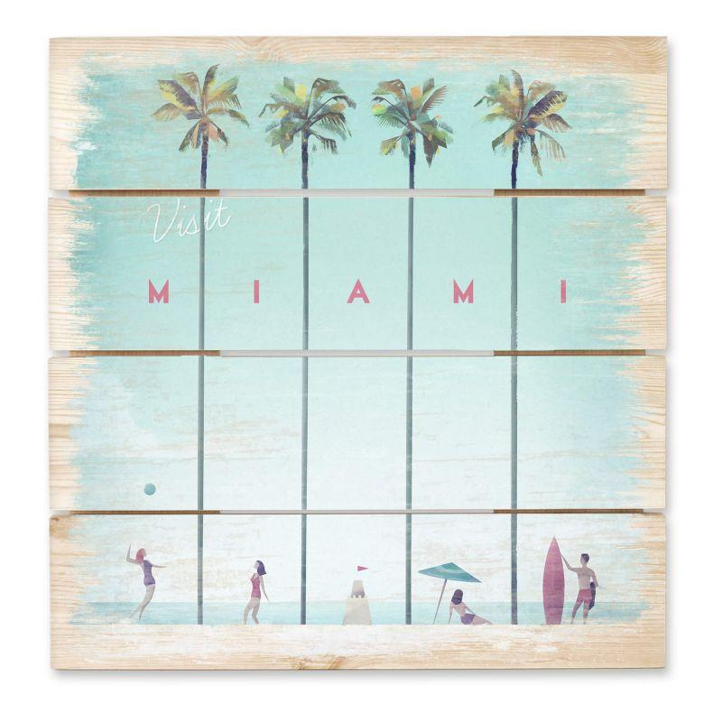 Holzbild Rivers - Miami