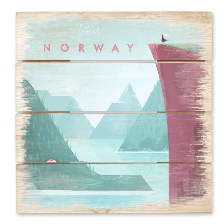 Holzbild Rivers - Norwegen
