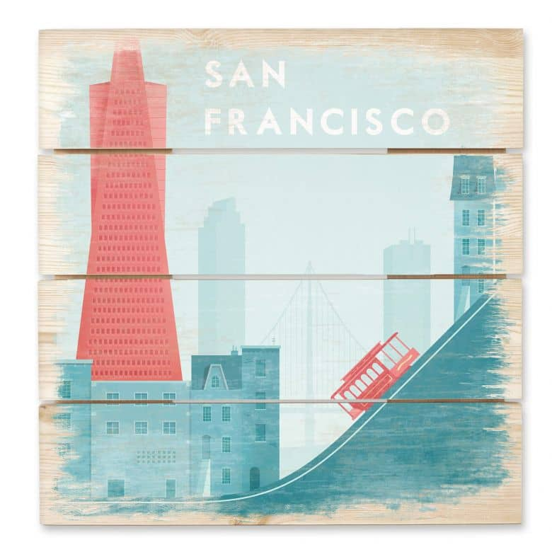 Holzbild Rivers - San Francisco