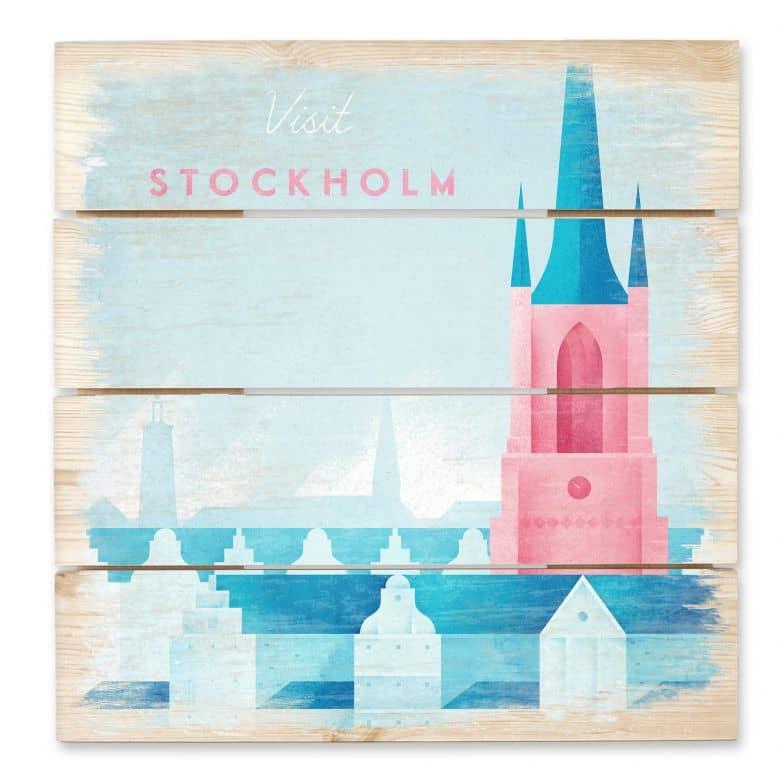 Holzbild Rivers - Stockholm