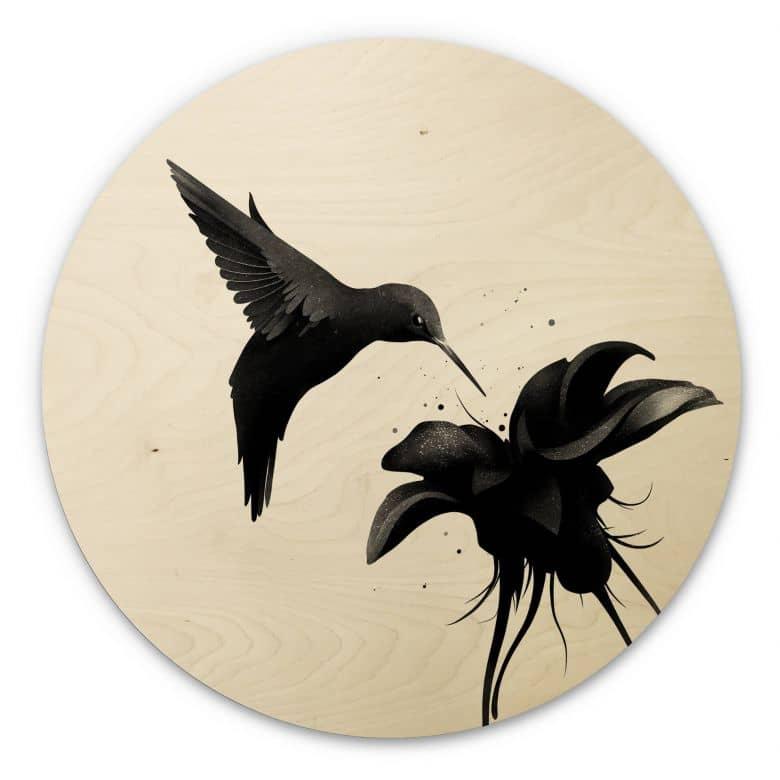 Wood circle shape - Ireland - Hummingbird