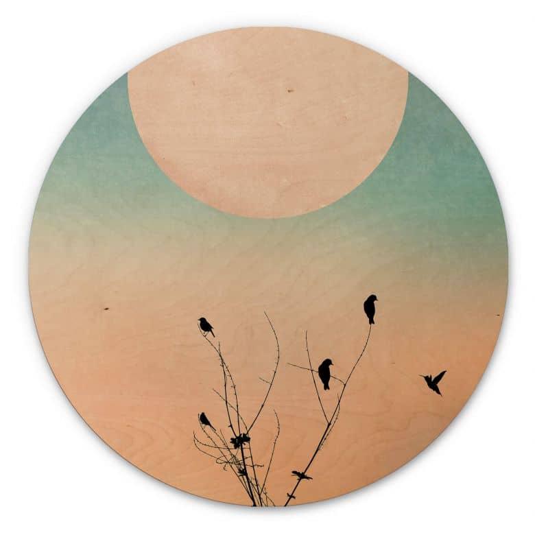 Wood circle shape - Kubistika - Warm Morning