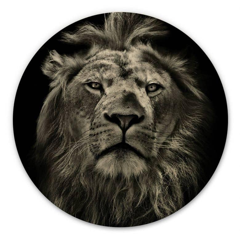 Holzbild Lion - Rund