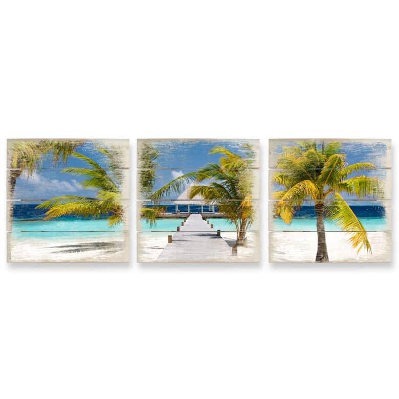 Paradise - Panorama Wood Print