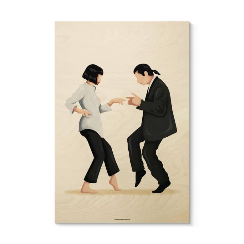 Houten Poster Tohmé - Pulp Fiction