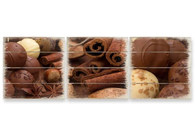Holzbild-Set Schokoladentraum 01 (3-teilig)