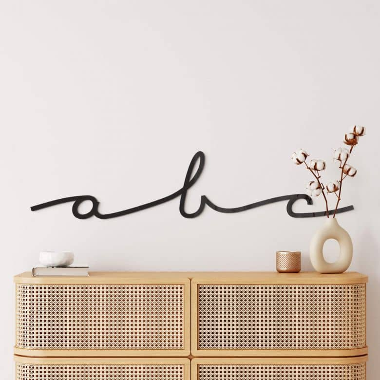 Decorative Letters - Handwriting Font - Acrylic Glass