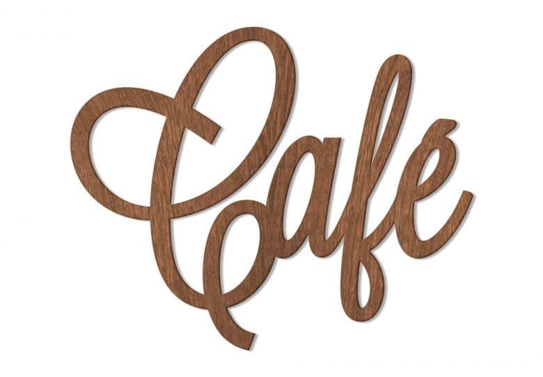 Holzbuchstaben Mahagoni - Café