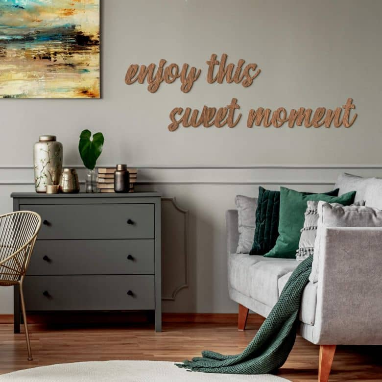 Wooden letter Mahogany - Enjoy this sweet moment