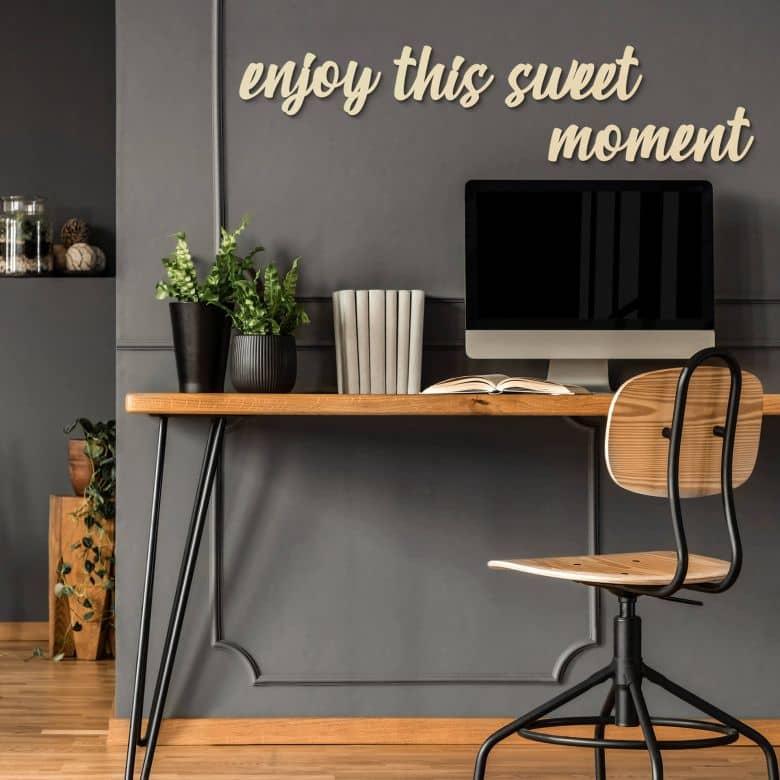 Wooden letter Poplar - Enjoy this sweet moment