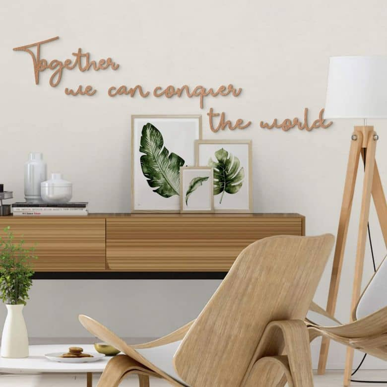 Scritta in legno - Together we can