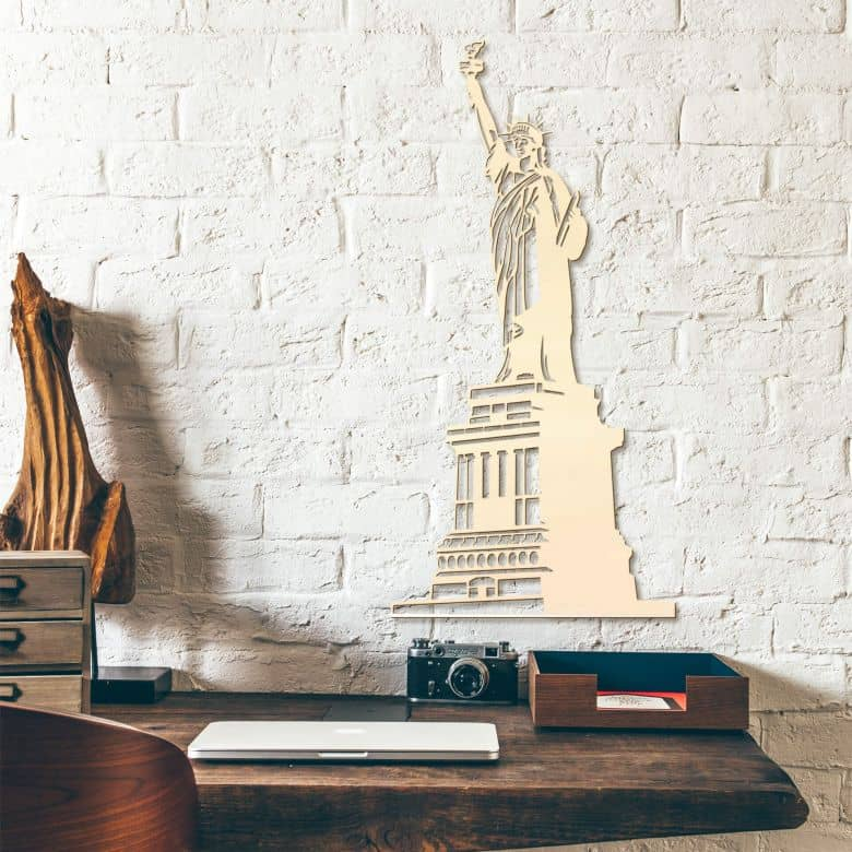 Holzkunst Pappel - Freiheitsstatue