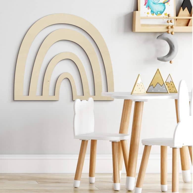 Holzkunst Pappel - Regenbogen