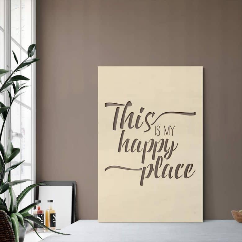 Dekobild Pappel - This is my happy place