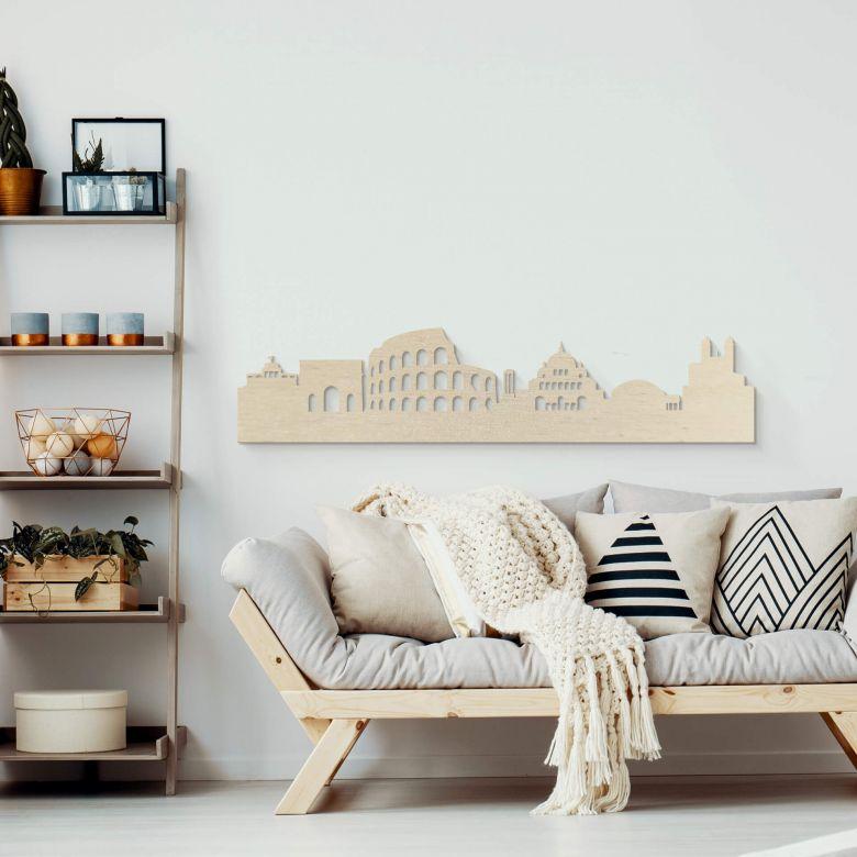 Holzkunst Pappel Furnier - Skyline Rom