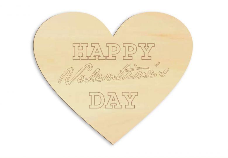 Holzdeko Happy Valentine's Day