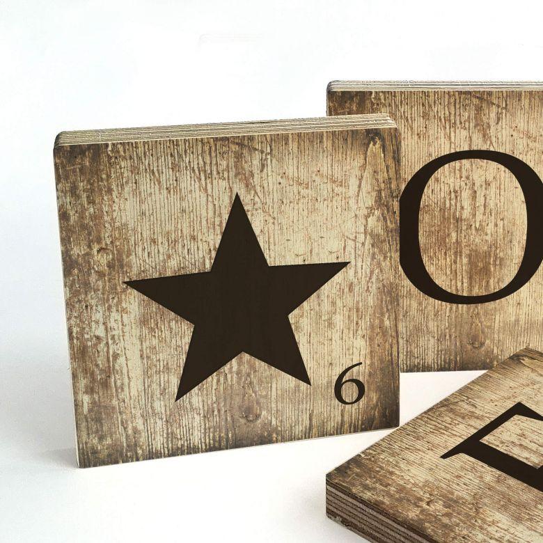 Lettre Scrabble étoile - Vintage