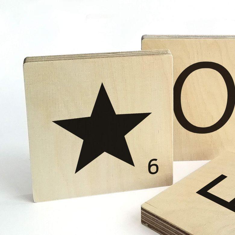 Buchstabensteine Stern