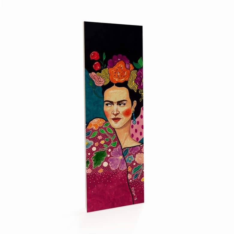 Holzbild Hülya - Frida - Panorama