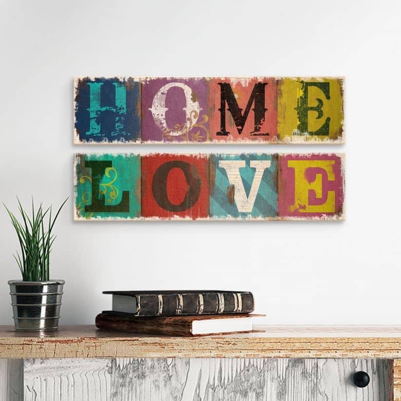 Holzschilder Home & Love