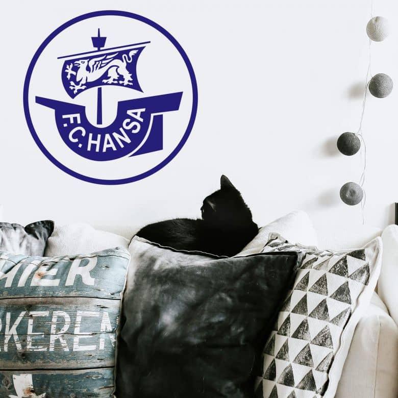 Wandtattoos Fc Hansa Rostock Logo Originales Fan Tattoo Fur Hansa Fans Wall Art De