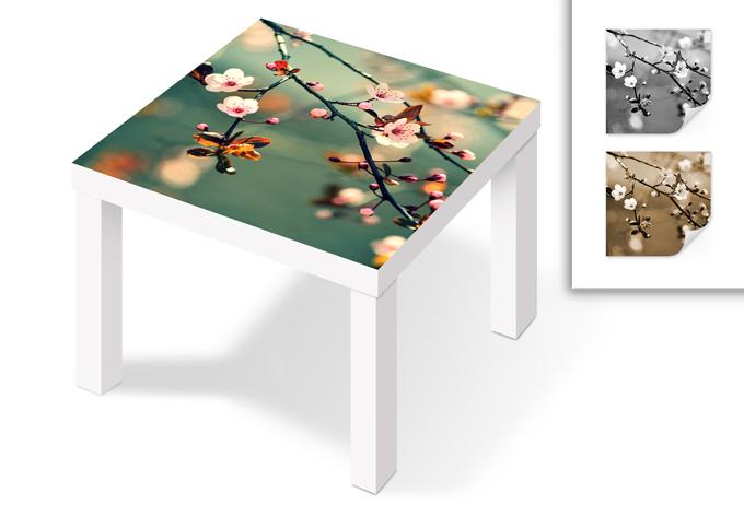 m belfolie f r ikea lack fr hlingserwachen. Black Bedroom Furniture Sets. Home Design Ideas