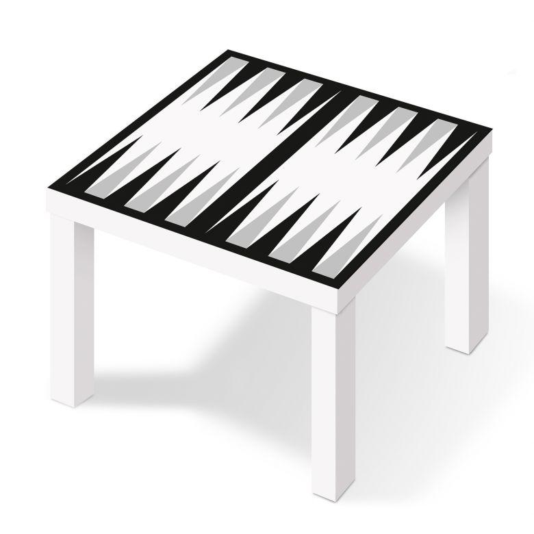 m belfolie f r ikea lack backgammon schwarz wei wall. Black Bedroom Furniture Sets. Home Design Ideas