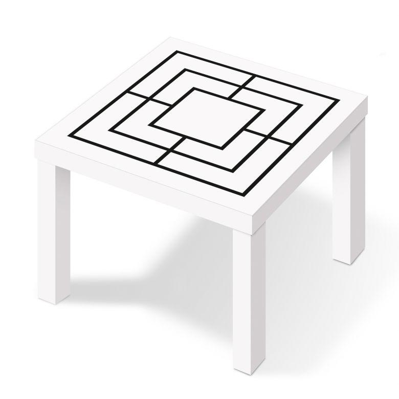 m belfolie f r ikea lack m hle schwarz wei wall. Black Bedroom Furniture Sets. Home Design Ideas