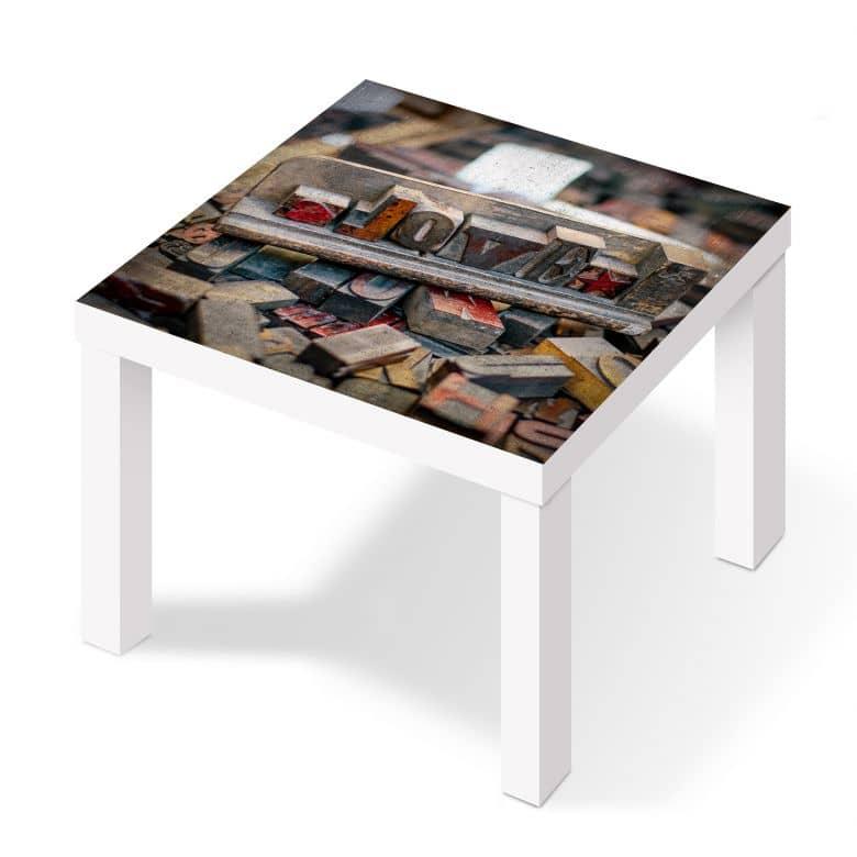 m belfolie f r ikea lack letternliebe wall. Black Bedroom Furniture Sets. Home Design Ideas