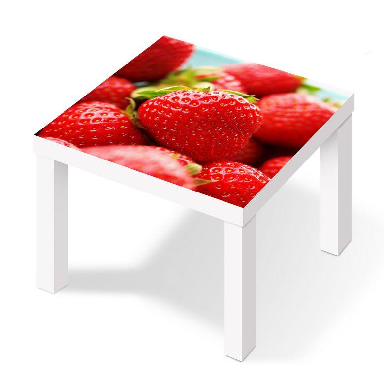 m belfolie f r ikea lack erdbeeren aus dem garten wall. Black Bedroom Furniture Sets. Home Design Ideas