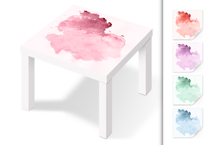m belfolie f r ikea lack wassermalfarbe wall. Black Bedroom Furniture Sets. Home Design Ideas