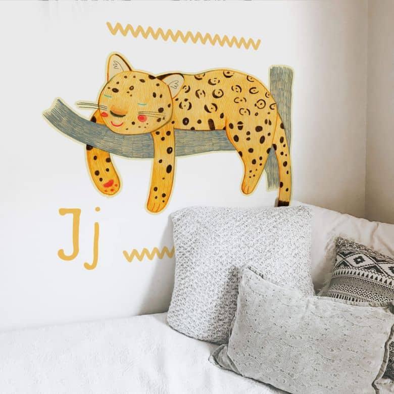 Wall sticker Loske J is for Jaguar