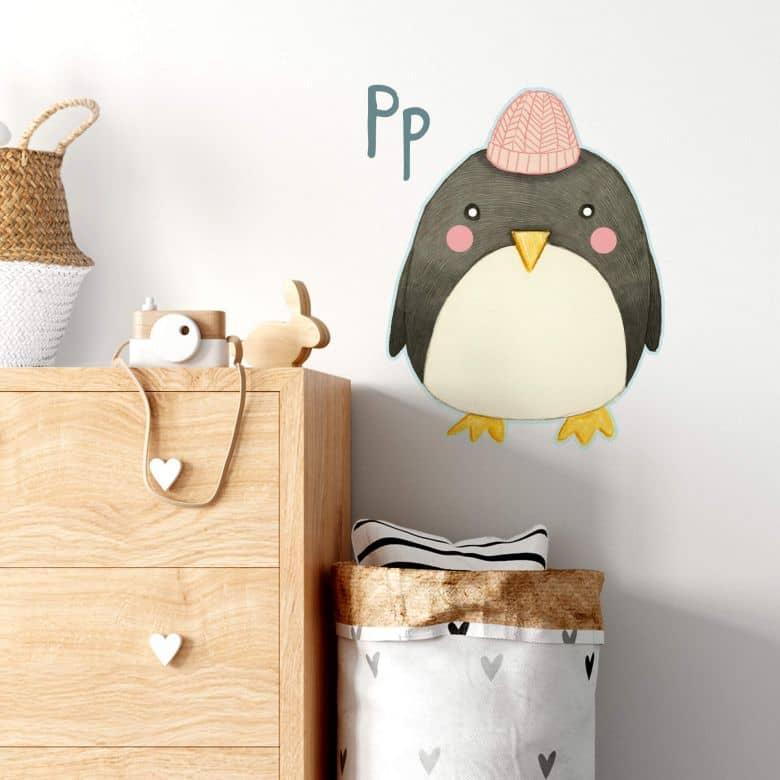Wall sticker Loske P is for Penguin