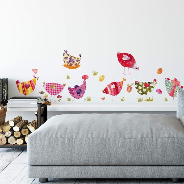 Wall sticker set Blanz – Rooster fun