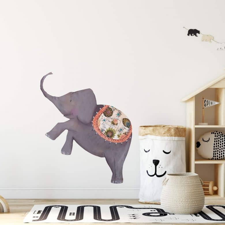 Wall sticker Leffler - Elephant
